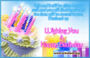 Labels: Birthday Bible Verse