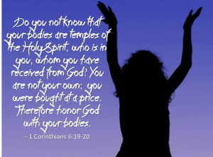 Famous Church Quote By Corinthians~ Do you not know that your bodies ...