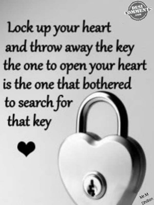 Lock up your heart