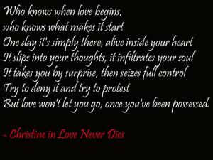 ... Quotes, Lyrics Quotes, Love Never Dies Musical Quotes, Music Quotes