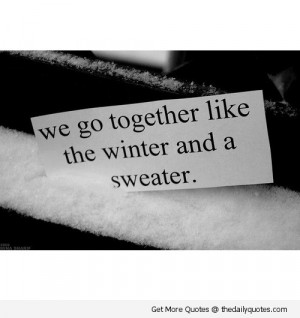 Cute Winter Love Quotes