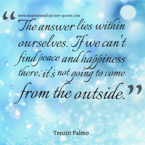 Peace And Happiness Quote
