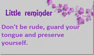 Don't Be Rude…