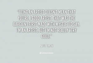 Quotes About Being an Artist