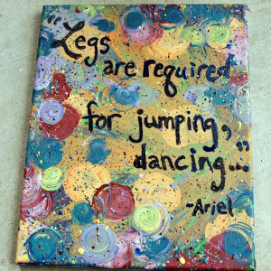 little quotes | this listing is for an 8x10 canvas painting of disney ...