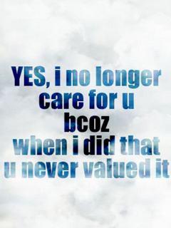 No Longer Care Quotes