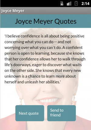 Joyce Meyer quotes - screenshot