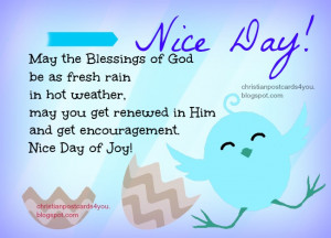 Nice Day with Nice blessed quote, free christian quote, free christian ...
