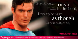Reeve atheist quote
