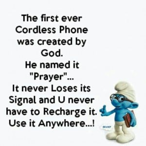 The First Ever Cordless Phone Was Created By God He Named It Prayer ...