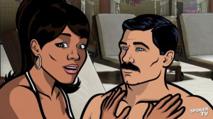 Lana Kane (voice of Aisha Tyler) and Sterling Archer (voice of H ...