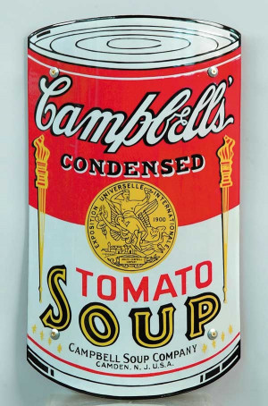Campbell's Soup Can Porcelain Sign