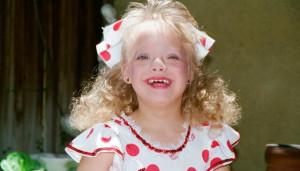 Lauren Potter as a child at her very first dance recital