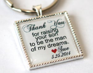 ... gift, father in law gift, mother in law gift, custom quote keychain