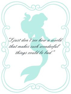 The Little Mermaid Ariel Quotes in the moon light - for iPhone 4/4S ...
