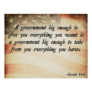 Gerald Ford Government Quote Posters