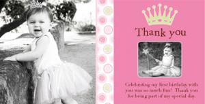 Photo Thank You Cards : First , Kids , Birthday , 1st birthday ...