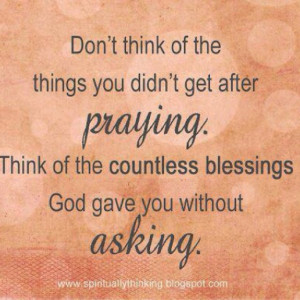 ... Quotes On Blessings   Count your blessings!   Inspirational Quotes