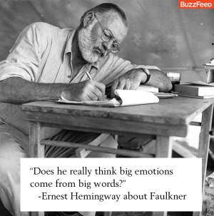 ... Funny Quotes: Does he really think big emotions come from big words