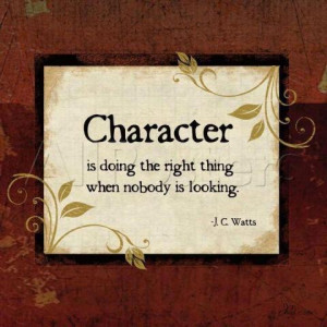 Character.....