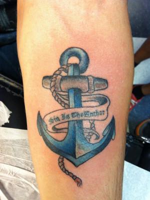 Anchor tattoo by Papalos