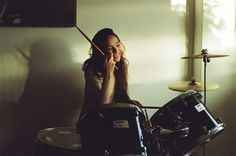 Nothing hotter than a beautiful girl behind a drum kit! drum kit
