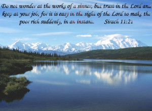 ... Of A Sinner, But Trust In The Lord And Keep At Your Job - Bible Quote
