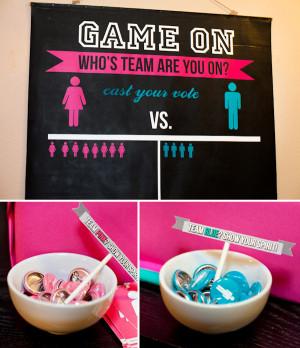 HWTM > Baby Showers > Gender Neutral > GAME ON! Girl vs. Boy Gender ...