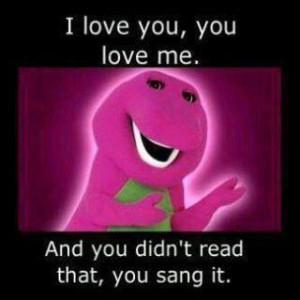 barney, cute, dinosaur, funny, hehe, music, sing