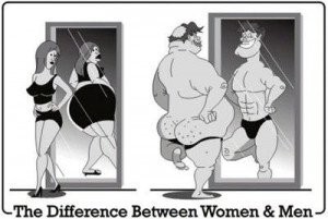 The difference between women and men. | Running Quotes