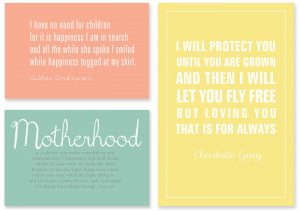 ... love in her role as MOM with these Quotes – easy to print and frame