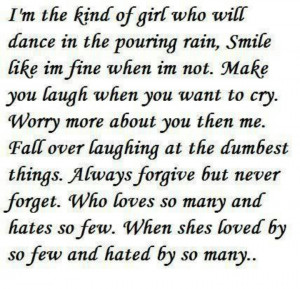 the kind of girl...