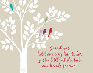 Grandmas Hold Our Tiny Hands, Mothe r's Day Gift/Grandchildren Tree ...