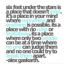 alex gaskarth quote 6 feet under the stars more life quotes under the ...