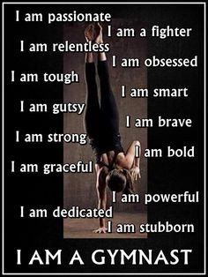 Gymnastics I AM A GYMNAST Quote Inspiration by ArleyArtEmporium, $15 ...