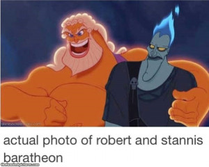 Robert and Stannis Baratheon