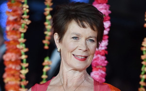 Celia Imrie at the Second Best Exotic Marigold Hotel London premiere