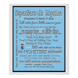 Quotes and Sayings Boys Room Subway Art Poster from Zazzle.