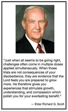 Elder Richard G. Scott- quotes