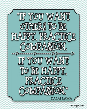 Practice compassion free print from inkhappi.com