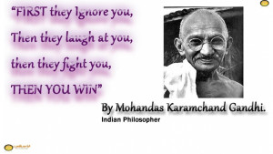 ... You, Then They Fight You, Then You Win - Happy Gandhi Jayanti Wishes