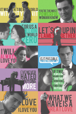 Blair & Chuck chuck & blair quotes » season four