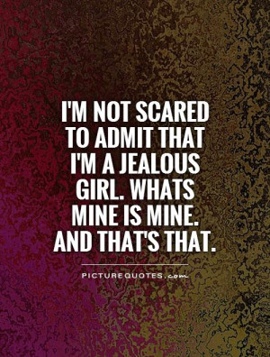 Jealous Girl Quotes