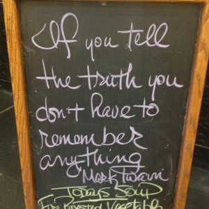 Sandwich board quote