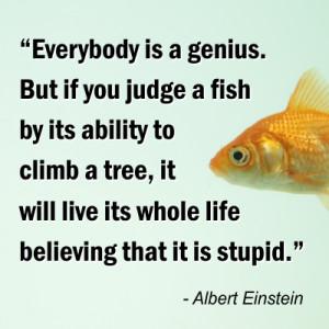 Albert Einstein Quotes Fish