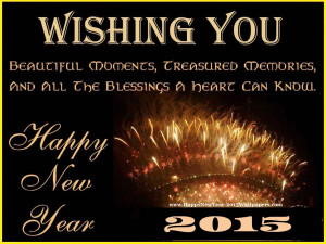 Happy New Year 2015 Messages Wishes with Wallpapers