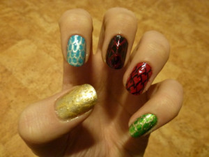 Inheritance Cycle Inspired Nails