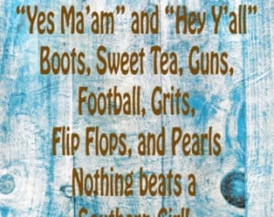 Southern Girl Digital Quote for Fra ming ...
