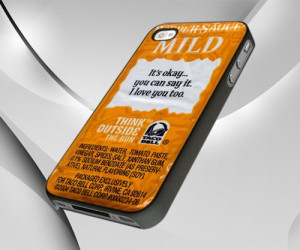 Taco Bell Sauce Packet Sayings - iPhone 5 case