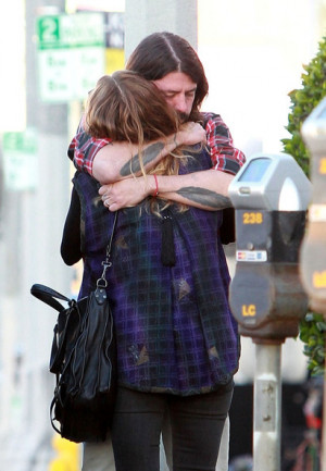grohl s intimate moment dave grohl is spotted in an intimate embrace ...
